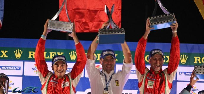 Race report LMGTE: AF Corse Take Third Win in a Row in Brazil