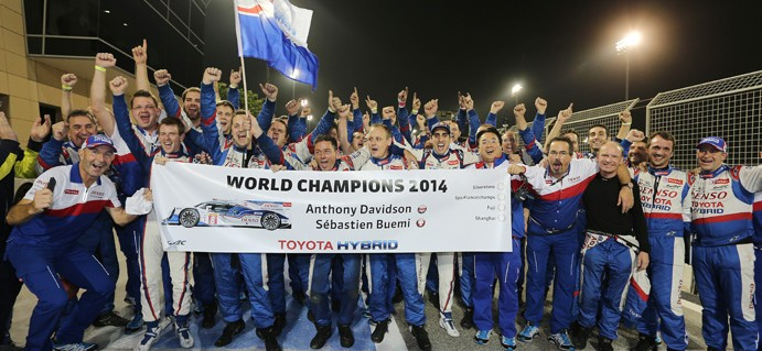 Toyota Celebrate as Davidson and Buemi are Crowned World Champions