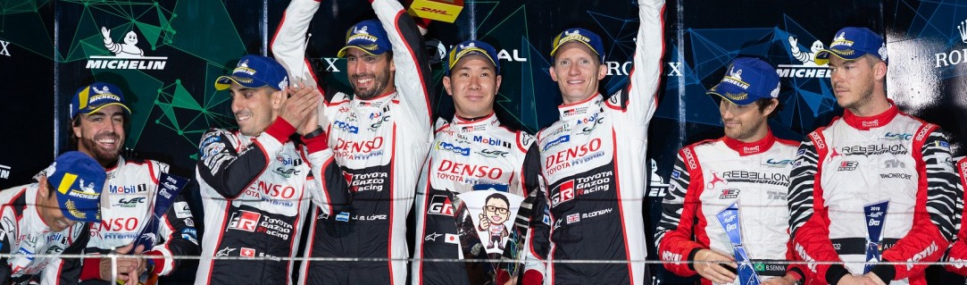 Conway, Kobayashi and Lopez win for Toyota; Jackie Chan DC Racing celebrate 1-2
