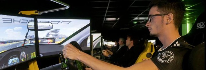 24 Hours of Le Mans drivers take on a professional gamer on a racing simulator