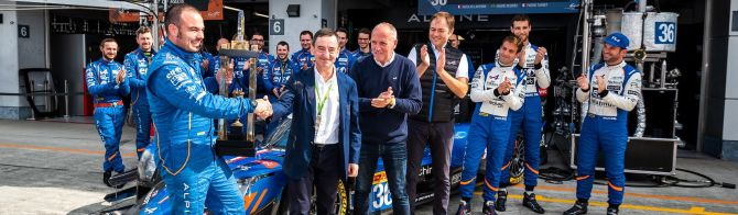 Signatech Alpine celebrates Le Mans win (+video)
