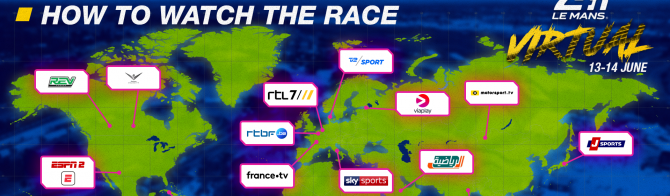 ESPN amongst global broadcasters to televise the first-ever  24 Hours of Le Mans Virtual