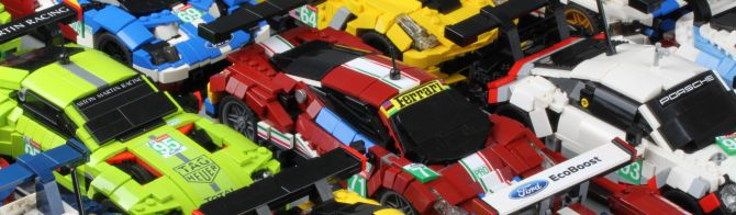 The 2018 Le Mans LMGTE Pro field… in Lego!